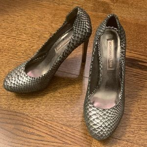 Black and silver BCBG heels